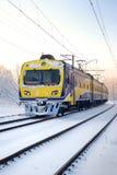 Tren en invierno Imagen de archivo