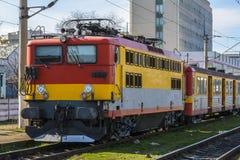 Tren en la estación Foto de archivo libre de regalías