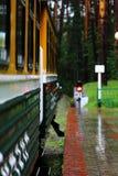 Tren en la estación Imagenes de archivo