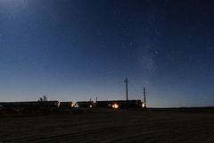 Tren en la estrella del camino Foto de archivo