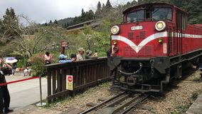 Tren en la montaña Ali imágenes de archivo libres de regalías