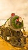 Tren en la Navidad Fotografía de archivo