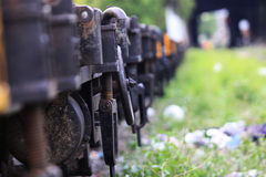 Tren en lado Fotografía de archivo