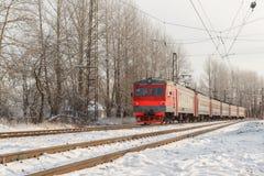 Tren en los carriles Foto de archivo libre de regalías