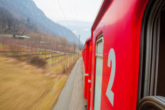 Tren expreso de Bernina Imagenes de archivo