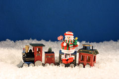 Tren expreso de la Navidad Foto de archivo libre de regalías