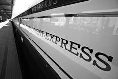 Tren expreso de Oriente Imágenes de archivo libres de regalías