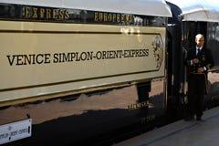 Tren expreso de Oriente Foto de archivo libre de regalías