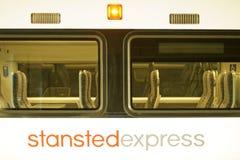 Tren expreso de Standsted imagenes de archivo