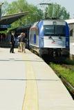Tren expreso del pasajero foto de archivo libre de regalías