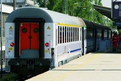 Tren expreso del pasajero imagenes de archivo