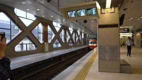Tren expreso limitado ferroviario de Odakyu, Romancecar, para Hakone almacen de metraje de vídeo
