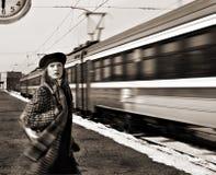 Tren faltado Foto de archivo libre de regalías