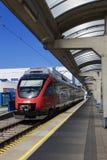 Tren federal austríaco de los ferrocarriles - Bratislava - Eslovaquia Foto de archivo libre de regalías