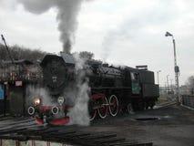 Tren ferroviario del vapor Imagen de archivo