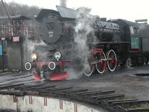 Tren ferroviario del vapor Fotografía de archivo