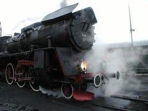 Tren ferroviario del vapor Foto de archivo