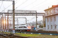 Tren híbrido-eléctrico de alta velocidad Sapsan Fotos de archivo libres de regalías