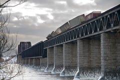 Tren hecho descarrilar Fotografía de archivo