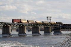 Tren hecho descarrilar Imagen de archivo libre de regalías