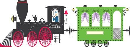 Tren. Ilustración del vector Imagen de archivo libre de regalías