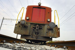 Tren inminente Fotos de archivo