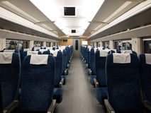 Tren interior Imágenes de archivo libres de regalías