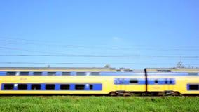 Tren interurbano almacen de video
