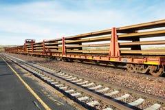 Tren largo en Dakota del Norte Foto de archivo libre de regalías