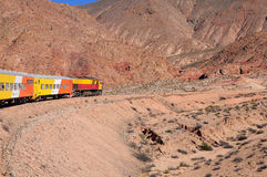 Tren a las nubes (Train to the clouds). Royalty Free Stock Photography