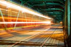 Tren ligero en Varsovia Imagen de archivo libre de regalías