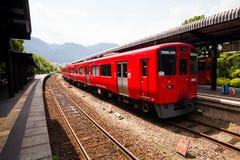 Tren local del japonés Fotografía de archivo