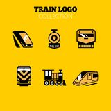 Tren Logo Collection, logotipo épico del tren, logotipos del tren, icono del tren stock de ilustración