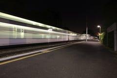 Tren móvil Foto de archivo libre de regalías