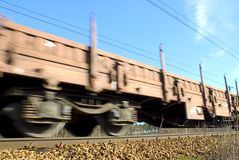 Tren móvil Foto de archivo