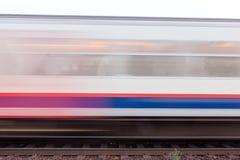 Tren móvil Imagen de archivo libre de regalías