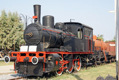 Tren móvil de la vendimia Fotos de archivo