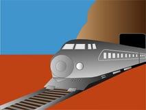 Tren moderno stock de ilustración