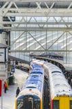 Tren moderno en la estación Fotografía de archivo