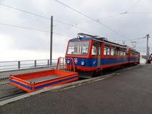 Tren a Monte Generoso, Suiza imagenes de archivo
