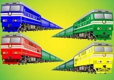 Tren multicolor Foto de archivo libre de regalías