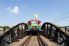 Tren multicolor Imagen de archivo libre de regalías