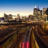 Tren nocturno Foto de archivo