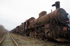 Tren oxidado viejo Foto de archivo
