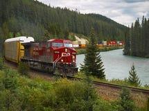 Tren pacífico canadiense foto de archivo