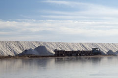 Tren para transportar la sal Fotos de archivo libres de regalías