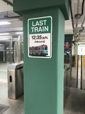 Tren pasado en la Línea Verde en Boston foto de archivo libre de regalías