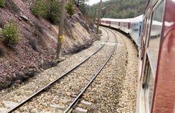 Tren Point of View Fotos de archivo libres de regalías