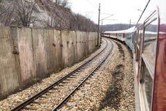 Tren Point of View Foto de archivo libre de regalías