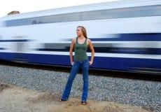 Tren que apresura Imágenes de archivo libres de regalías